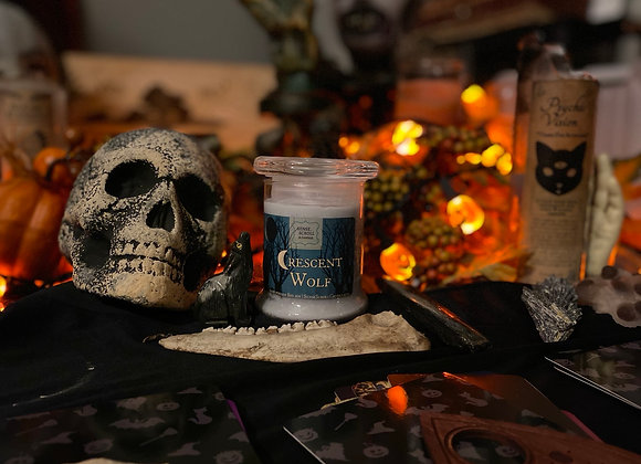 Crescent Wolf Candle | LARGE