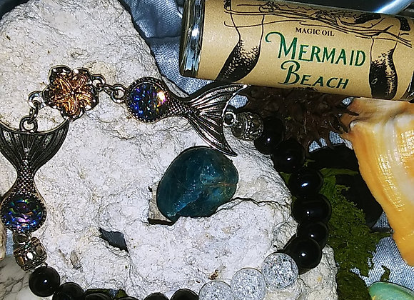 """""""Tranquility"""" Fresh Water Blue Pearl with Mermaid Tails"""