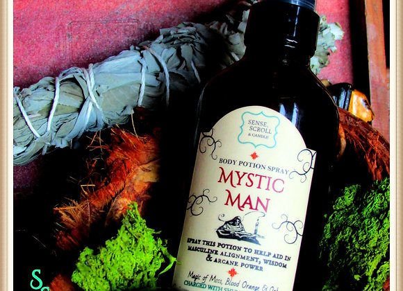 MYSTIC MAN, Cologne Potion, Masculine Alignment, Wisdom & Arcane Power