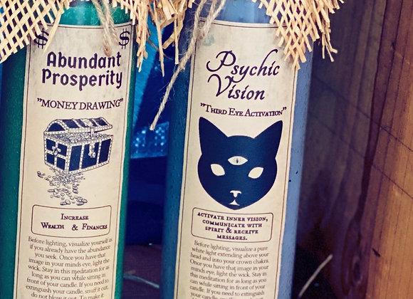 PSYCHIC VISION. Fixed Candle. Third Eye Activation, Spirit Communication, Wisdom