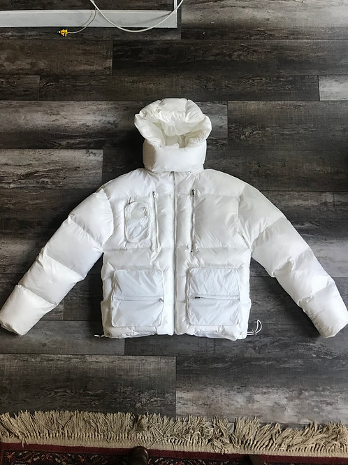 Hvit Puffer Coat
