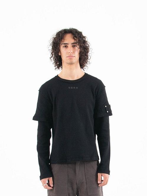 Black Vertebrae Long Sleeve Shirt