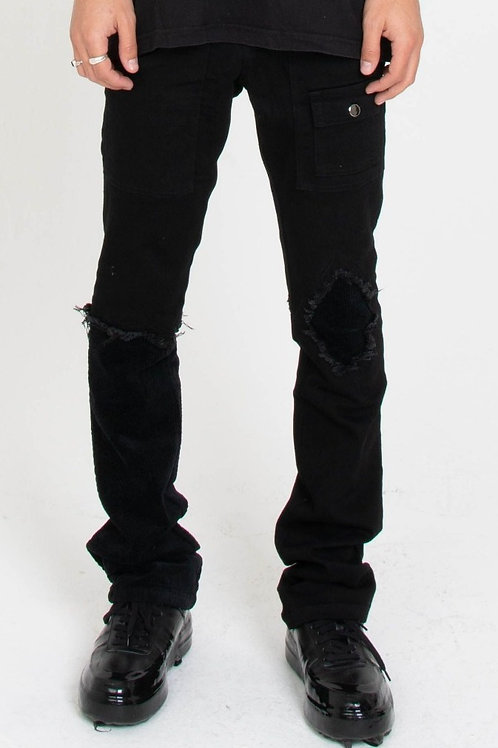 Black Hybrid Jeans