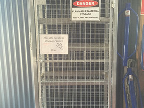 Our On-Farm Chemical Storage Cabinet