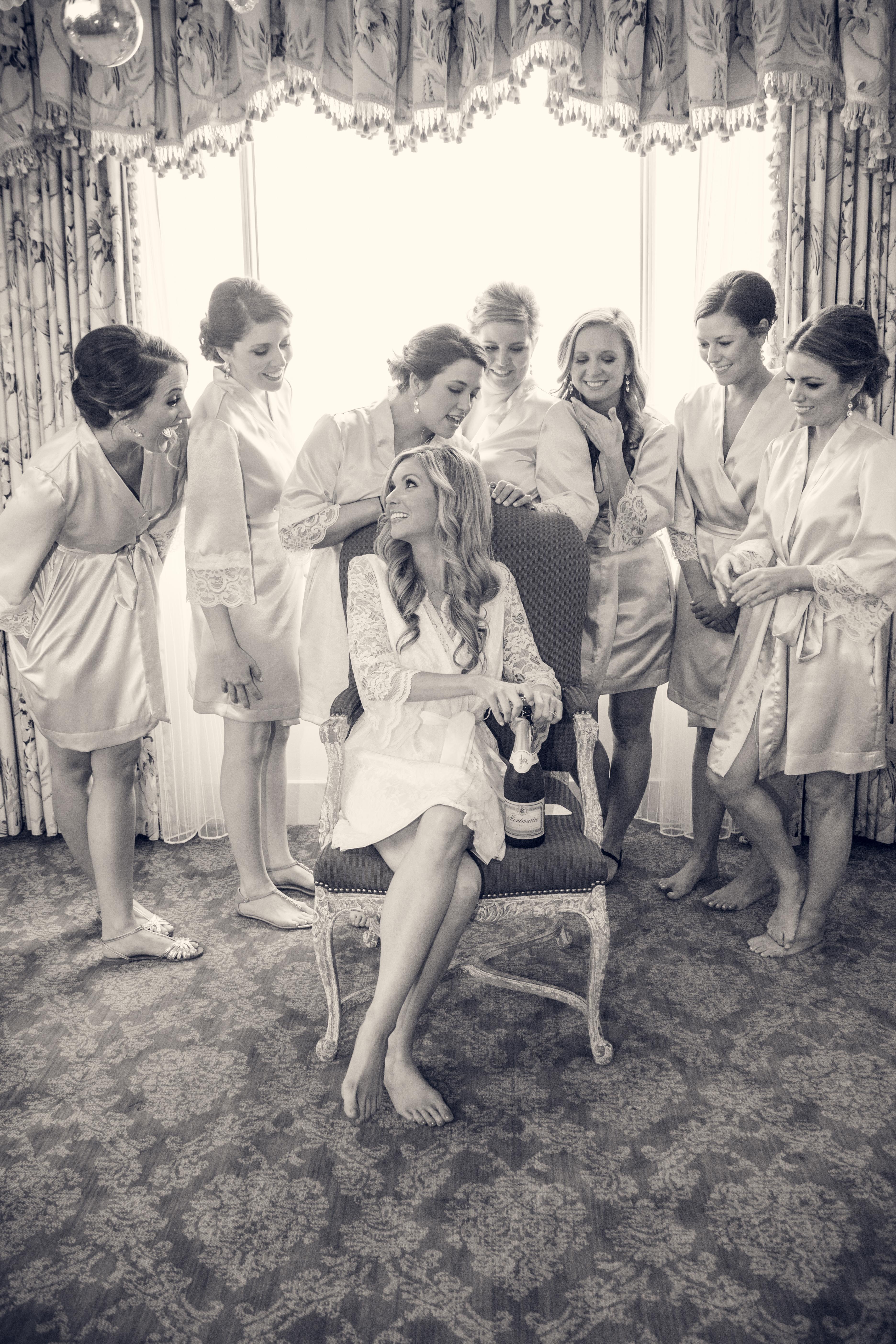 Milan and Parisian bridesmaids