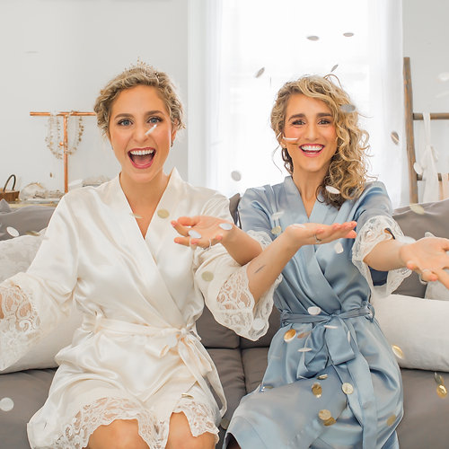 Luxe bride and bridesmaids robes and rompers - ChezBlanc | Quick ...