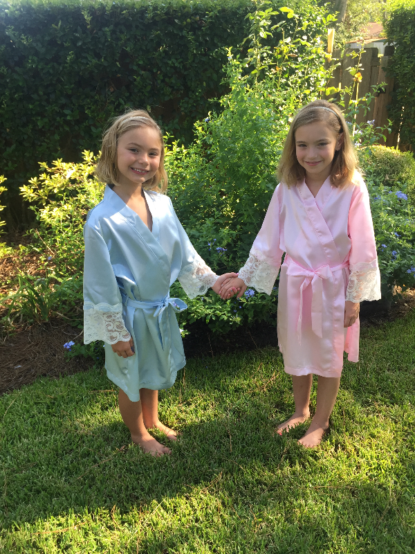 Flower girls in Parisian Robe