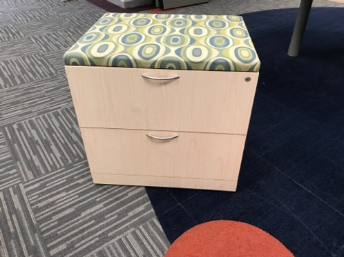 2 Drawer Lateral File with cushion top