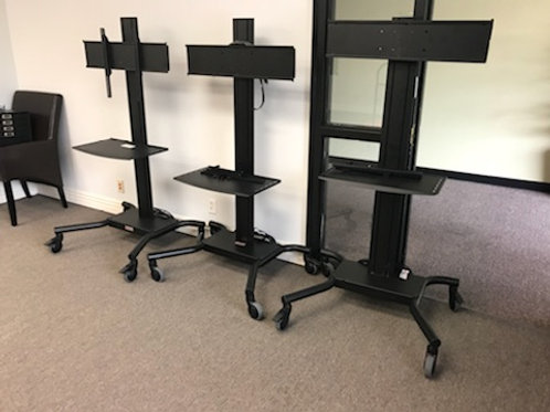 (3) Mobile TV Stands