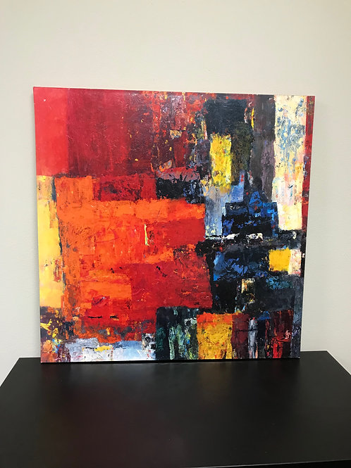 """39""""x39"""" Canvas Painting"""