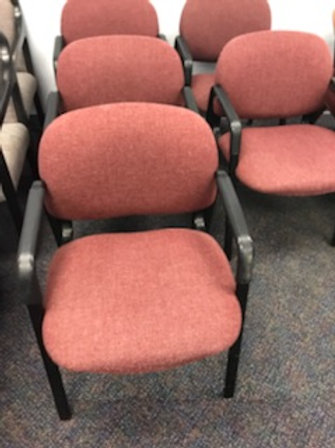 4 Red Guest Chairs