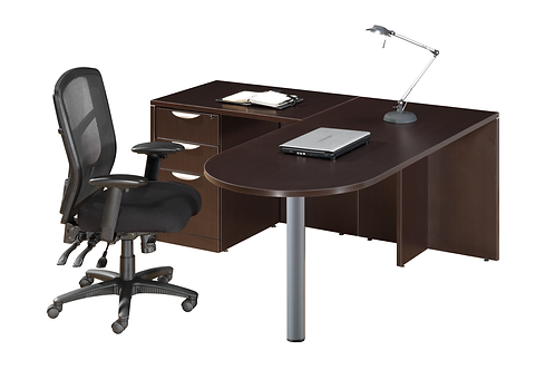 Bullet Top L-Shaped Desk