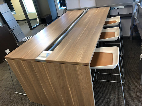 Steelcase CampFire Counter Height Table & 6 Stools
