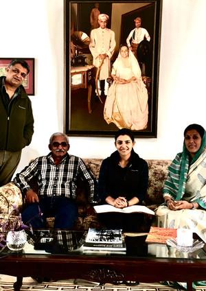 Thakur Sahib Pradeep Singhji Siana and  my God daughter visits me