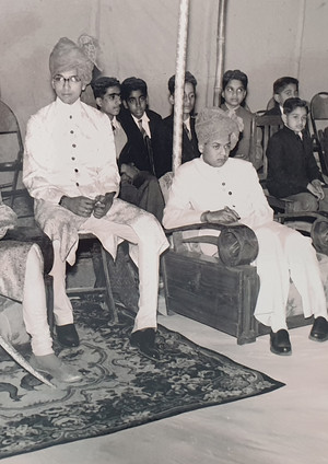 Kr Nahar Singhji with MK Inderjeet Deo and Raja C K Singhji