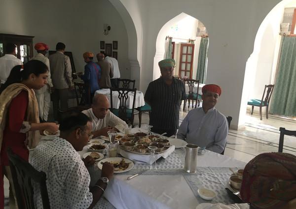 Maharana Sahibs Lunch at Dev Shree