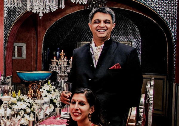 Shatrunjai and Bhavna in Hello Magazine