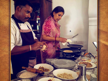 Beautiful cuisine personally made by Bhavna