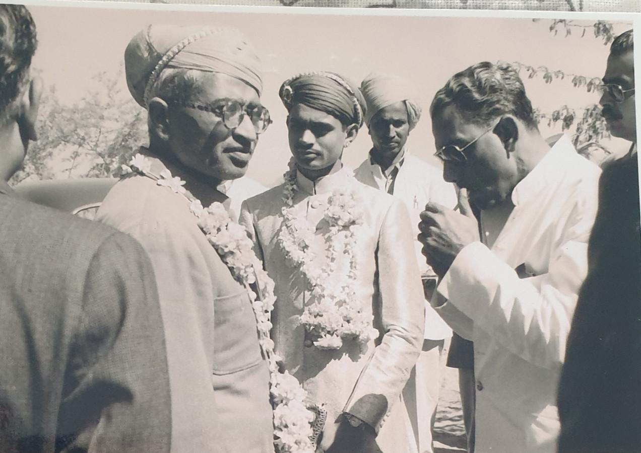 Rawat Sangram Singhji Kr Nahar Singhji with HH Rajadhriraj SudarshanDeo Shahpura