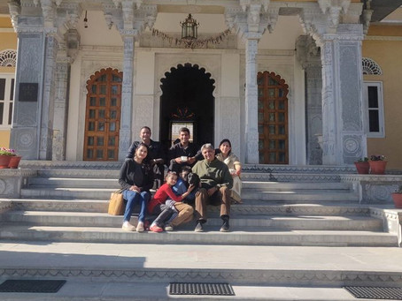 Digvijay Sinh Jhala — with Shatrunjai Singh Deogarh at Devshree - a Stately home at Deogarh