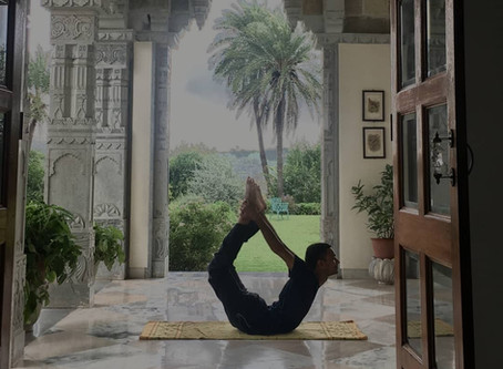 wake up in the morning and have a nice yoga session with sun rising over