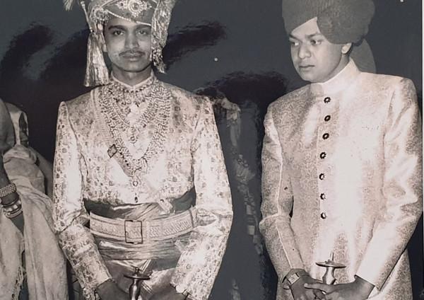 Kr Nahar Singhji with Raja C K Singhji Bhinga