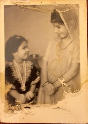 Bhavna as a little girl