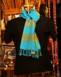 Silk Cotton Dupatta (blue) RJV- 065 Rs.