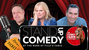 Stand Up Comedy at The Funny Farm at Tilly's Table on Friday, October 1st!