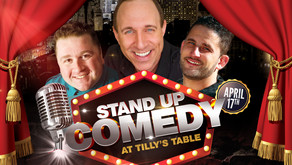 A Second Night of Comedy at Tilly's Table with Headliner Chris Monty on Sat. April 17th