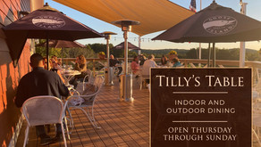 Outdoor Dining is Available at Tilly's Table (weather permitting)