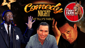 Tilly's Table invites you to a night of Comedy at THE FUNNY FARM on Friday, June 18th!