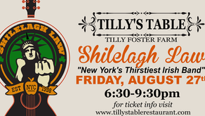 Shilelagh Law at Tilly Foster Farm on August 27th!