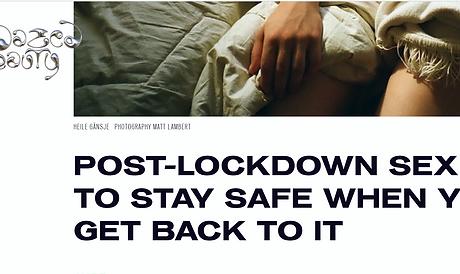Post lockdown sex article in Dazed Beauty