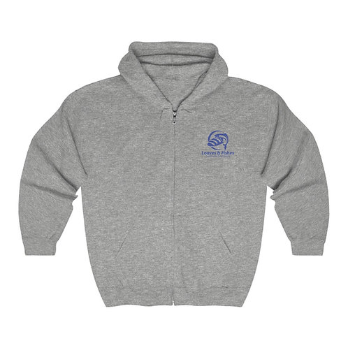 Unisex Heavy Blend™ Full Zip Hooded Sweatshirt - Loaves & Fishes
