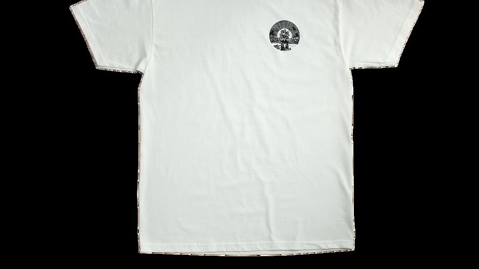 Ganj Wax - Nuclear Dinosaur t-shirt (white)