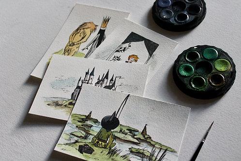 Chronicles Of Narnia Original Watercolor Postcard Set