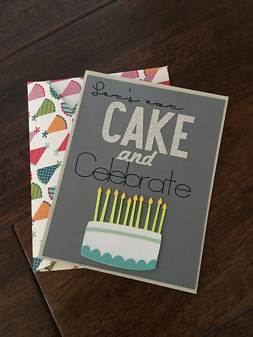 Let's Eat Cake! Birthday card