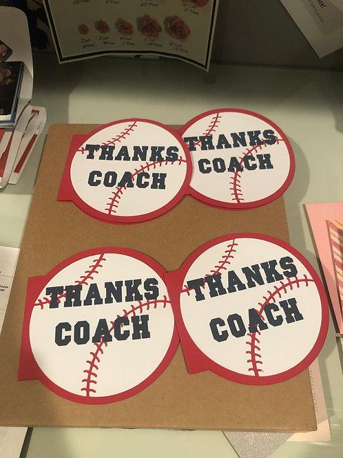 Coach's ThankYou card