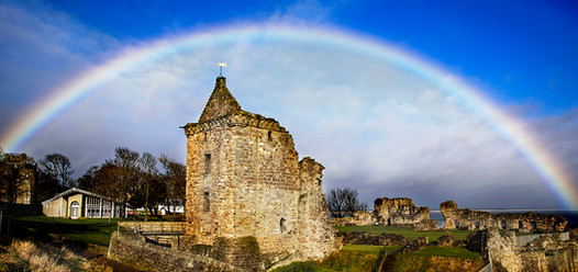 Rainbow over Castle