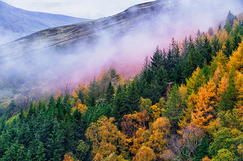Colours above Loch Tay