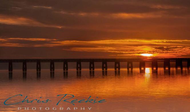 Tay Rail Bridge sunset