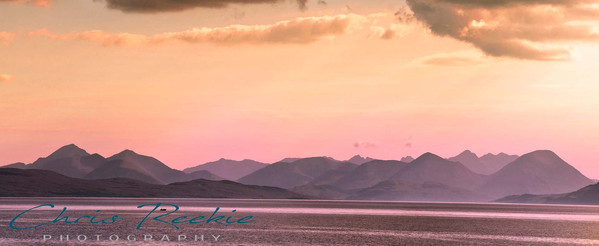 Cuillins outline from Applecross
