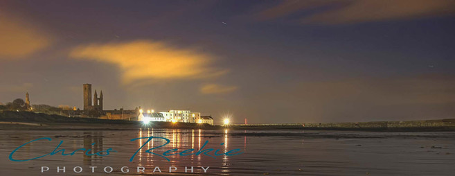 East Sands at night