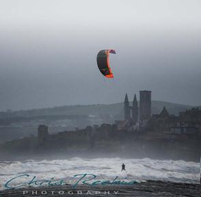 Kiter in the bay