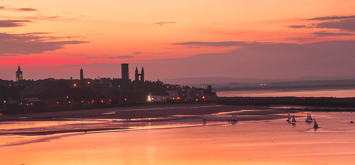 Sunset over the East Sands