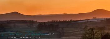 Sunset on the Lomonds, Fife