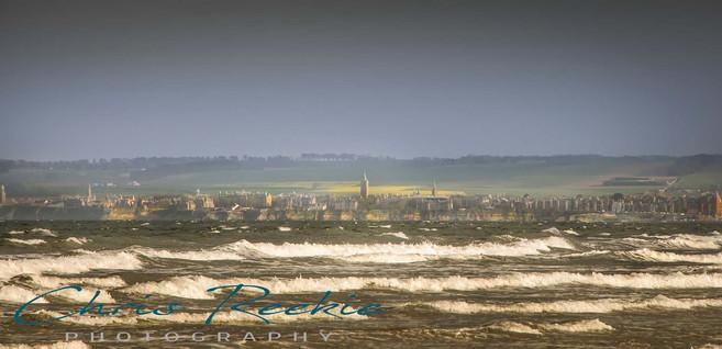 St Andrews across the bay