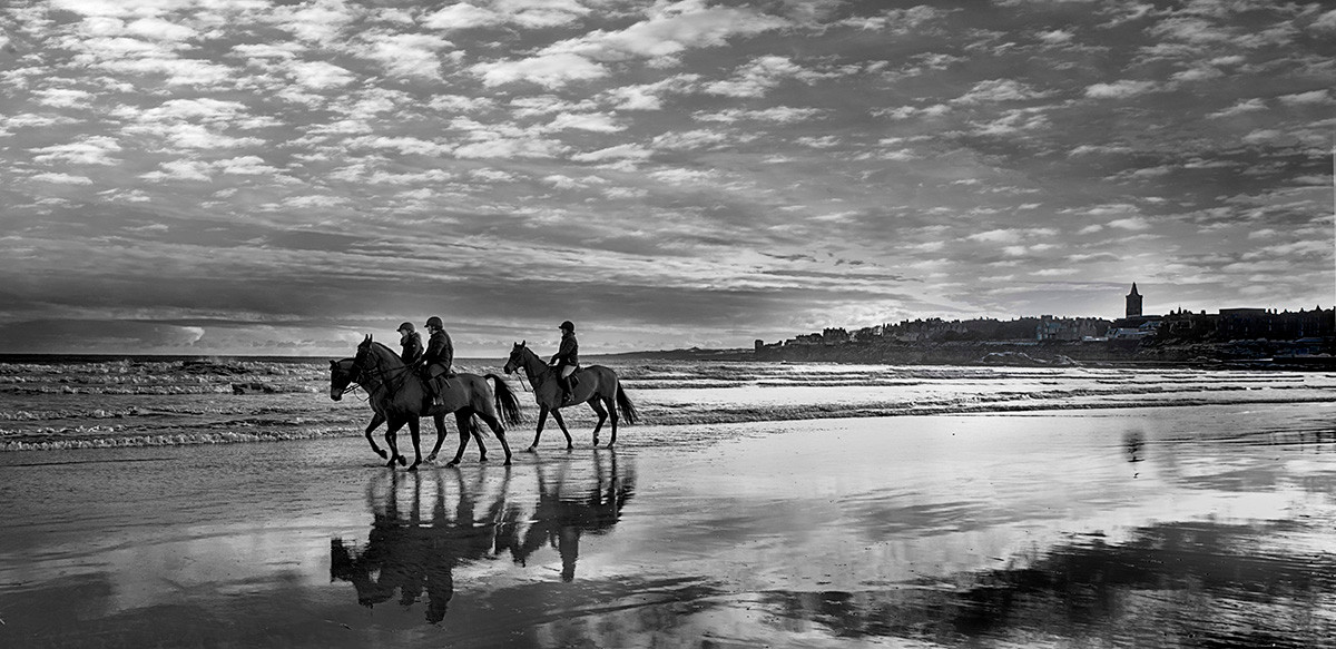 Race horse training on West Sands