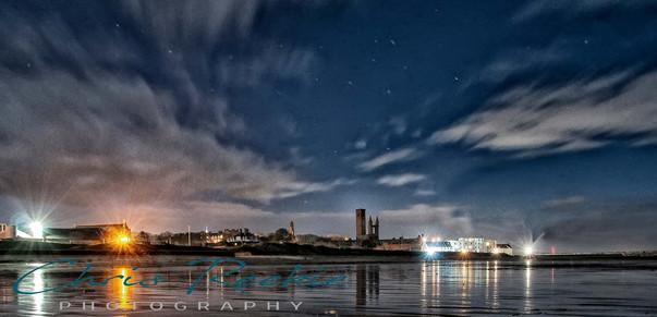 East Sands under starry skies